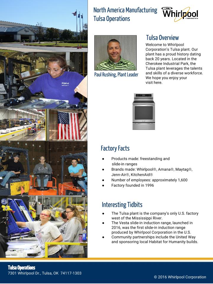 Meet Our Tulsa Factory Whirlpool Corporation