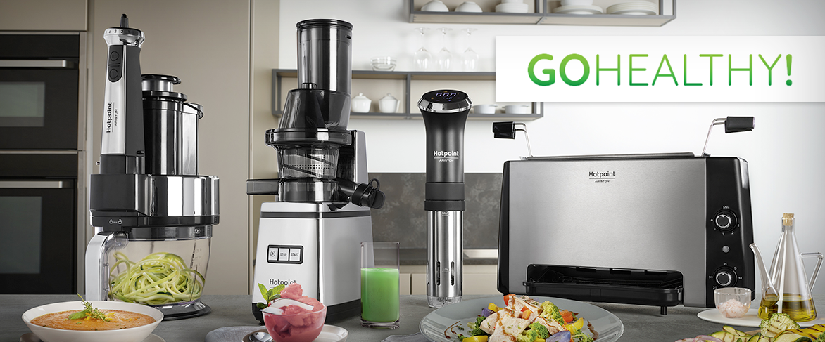Hotpoint launches the new Go Healthy small appliances range and ...