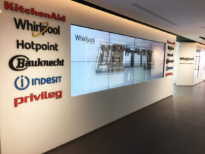 Preview visit of the showroom, The World of Whirlpool, 500 sqm of multi-brand technology and design