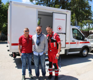 Italy's first ever mobile laundromat delivered to community of Amatrice