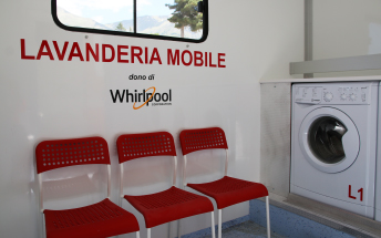 Whirlpool and the Italian Red Cross: Italy's first mobile laundromat delivered to Amatrice