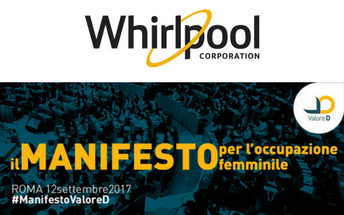 Whirlpool signs Manifesto Valore D and commits to support Women's Empowerment in the Workplace