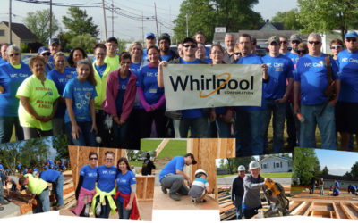 Whirlpool Findlay Operations 50th Anniversary Habitat Build Raise the Walls Celebration