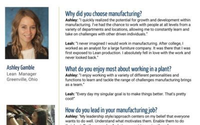 Women in Manufacturing Spotlight: Ashley Gamble and Leah Buchhop