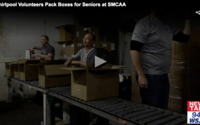 Whirlpool Volunteers Pack Boxes for Seniors at SMCAA