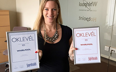 Whirlpool brand in Hungary achieves 12th Consecutive Superbrand Award