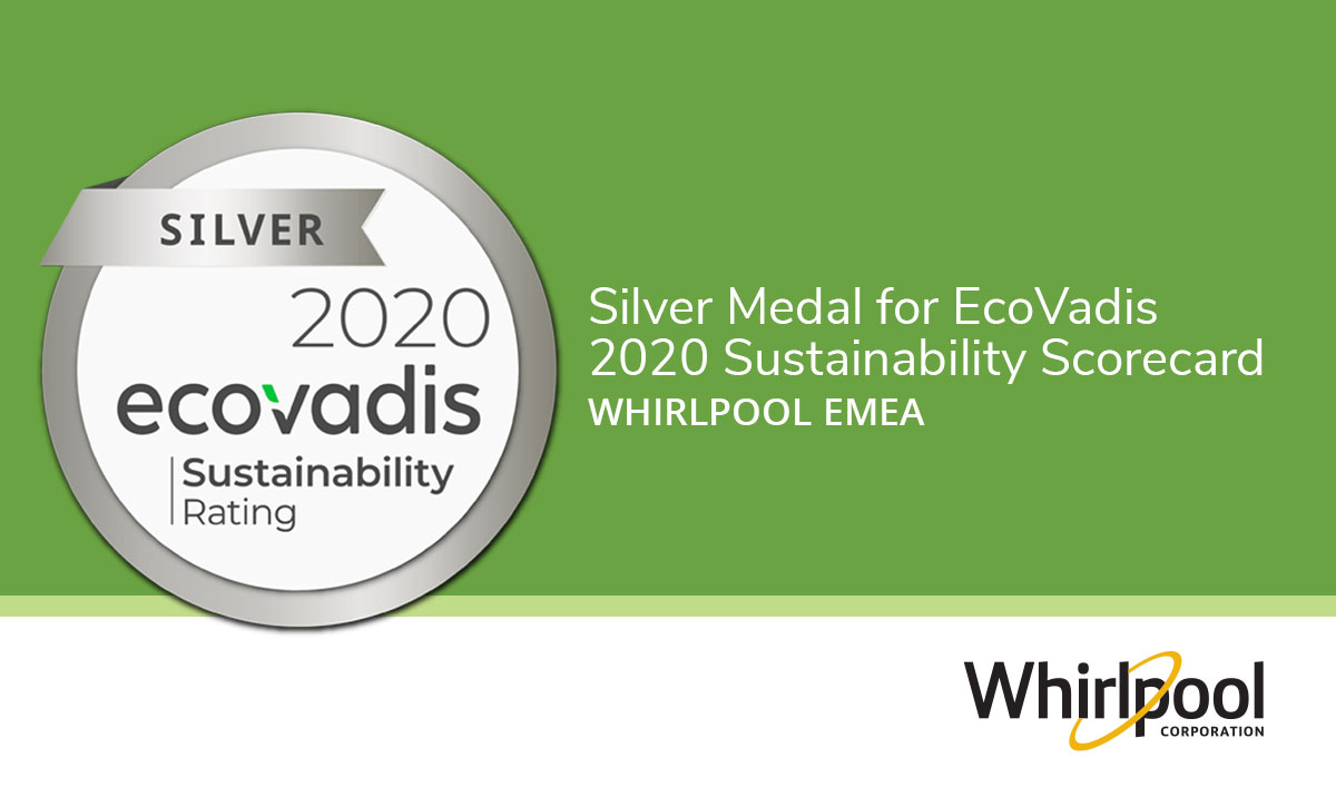 EcoVadis Silver Medal Award for Whirlpool