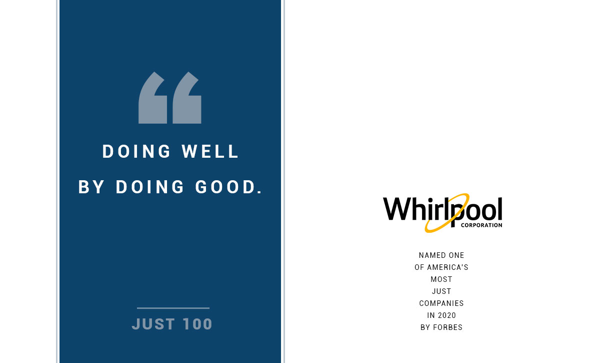 Whirlpool Named to Just 100 list for 2020