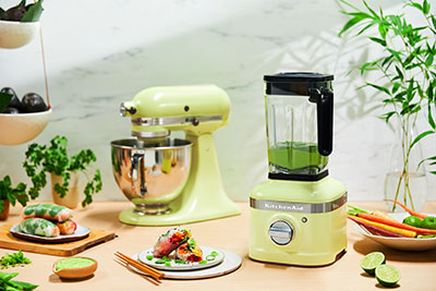 KitchenAid 2020 Color of the Year Kyoto Glow, Stand Mixer and Blender