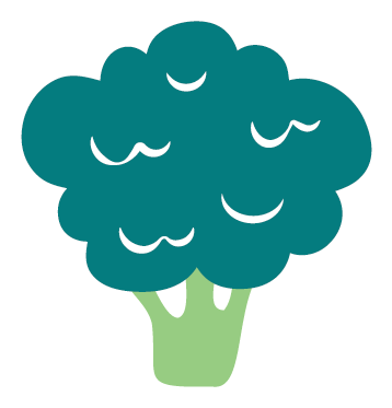 Broccoli Sticker for Feel Good Fridge