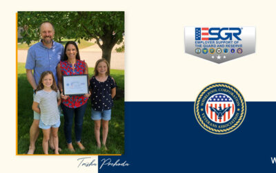 Prehoda Earns Patriot Award from Employer Support of the Guard and Reserve