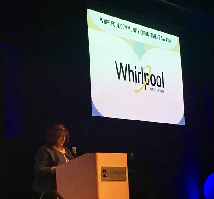 Whirlpool Community Commitment Award 2019