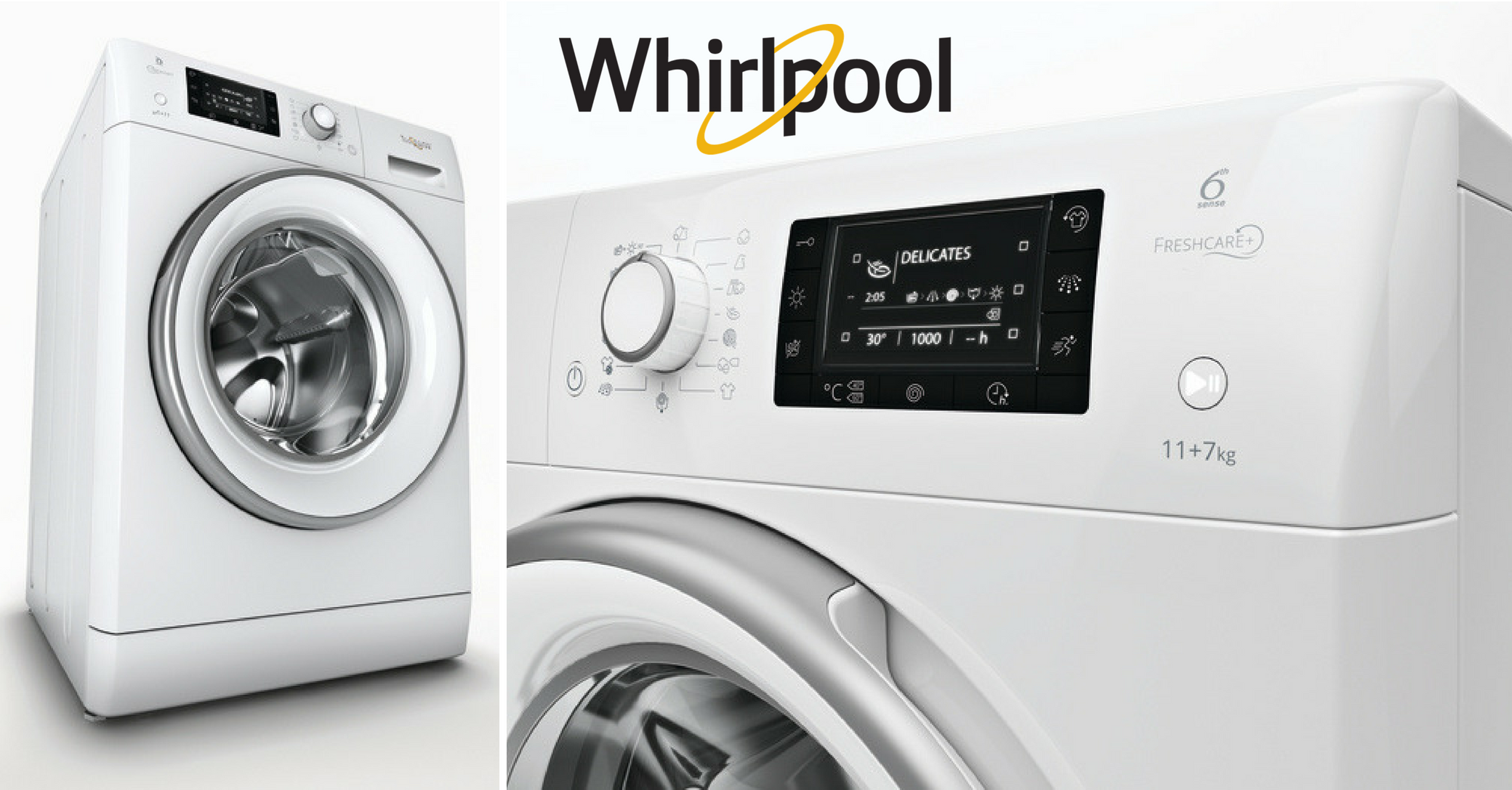 Whirlpool's FreshCare + keeps your garments fresh for up to