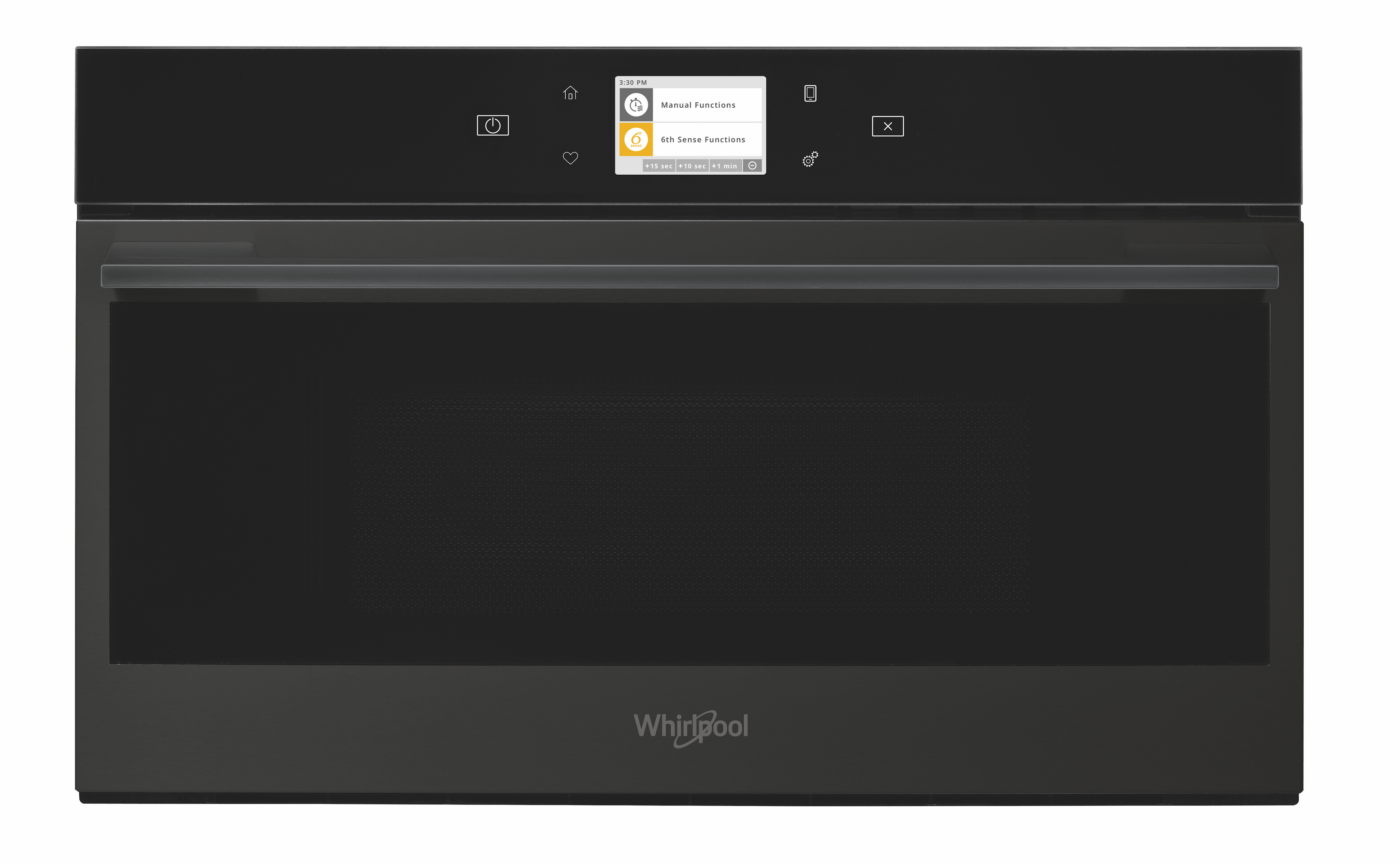 Whirlpool W Collection Black Fiber Range