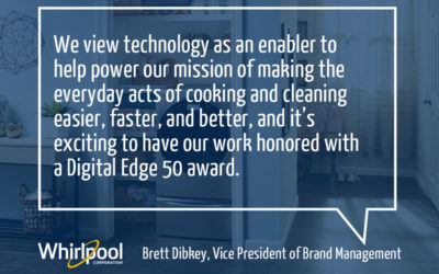 Whirlpool Corporation Receives 2019 Digital Edge 50 Award