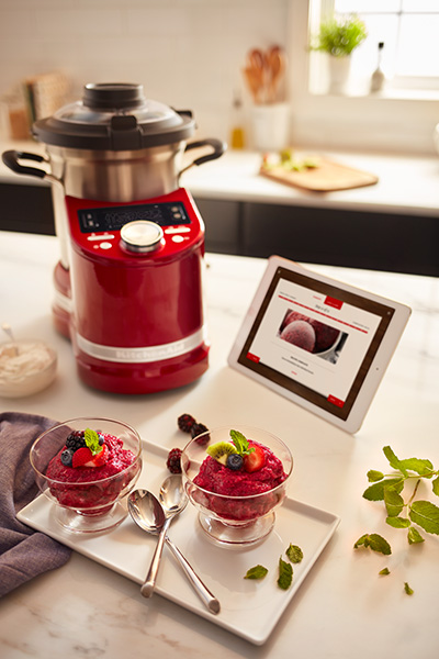 Candy Apple Red KitchenAid Cook Processor Connect