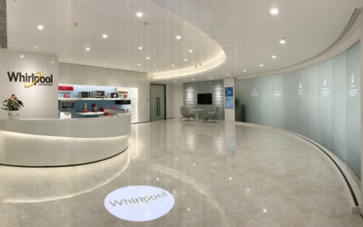 Innovative Reception Area Highlights Whirlpool Corporation's History