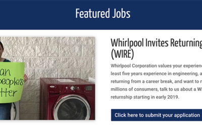 Whirlpool Invites Returning Engineers = WIRE
